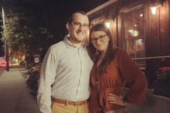 Us out to dinner in Mystic