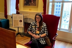 Stacy at the Old State House in Boston!