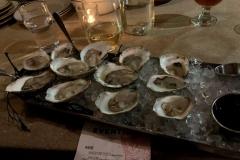 Fresh oysters in Portland.