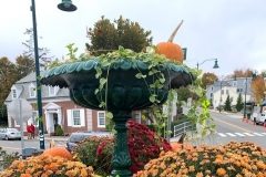 Fall decorations in Mystic, CT.