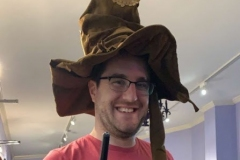 Andy and  his Sorting Hat in Salem.